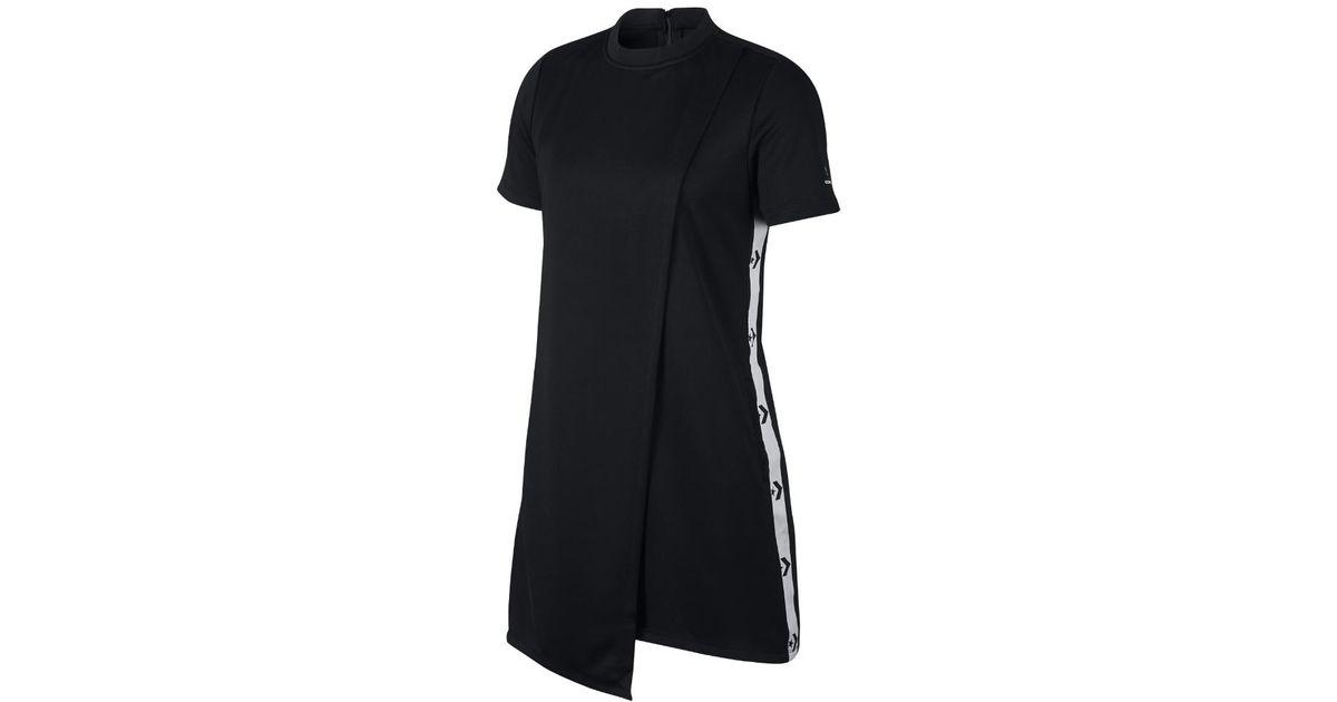 e5e1e71b9e7b Lyst - Converse Star Chevron Track Women s Dress in Black