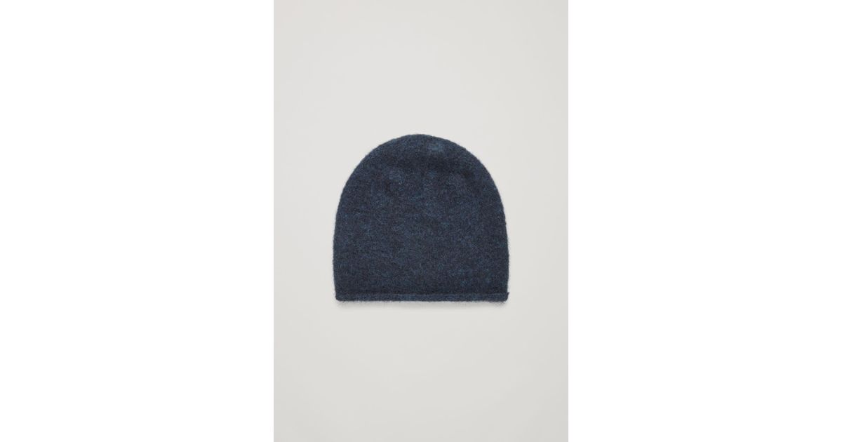 Cos Wool-mix Beanie Hat in Blue for Men - Lyst ac173924807f