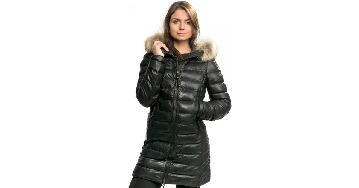 parajumpers demi leather coat