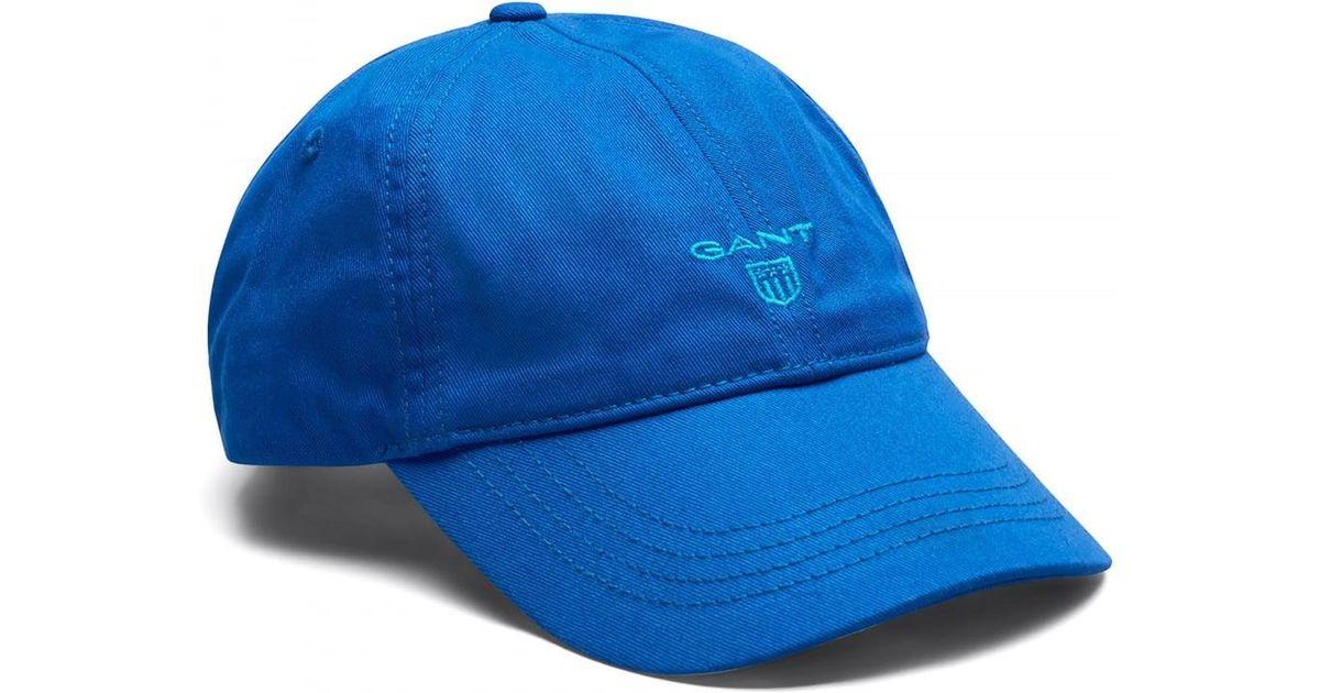 1c6ae1382f7 Lyst - Gant Contrast Twill Mens Cap in Blue for Men