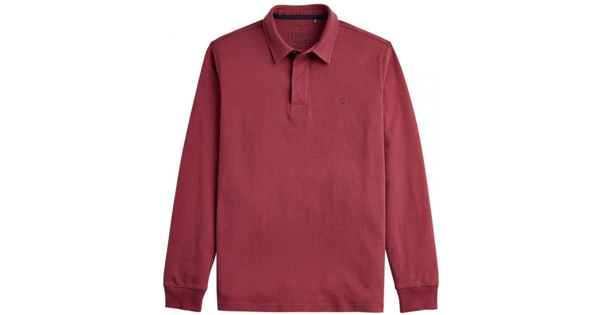 8140d9975b671e Joules Ruckbury Mens Long Sleeve Plain Rugby Shirt S/s in Red for Men - Lyst