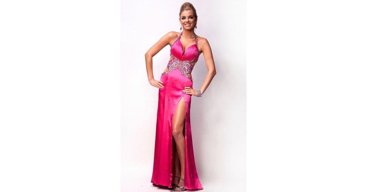 Lyst - Nina Canacci J Dress In Fuschia in Pink