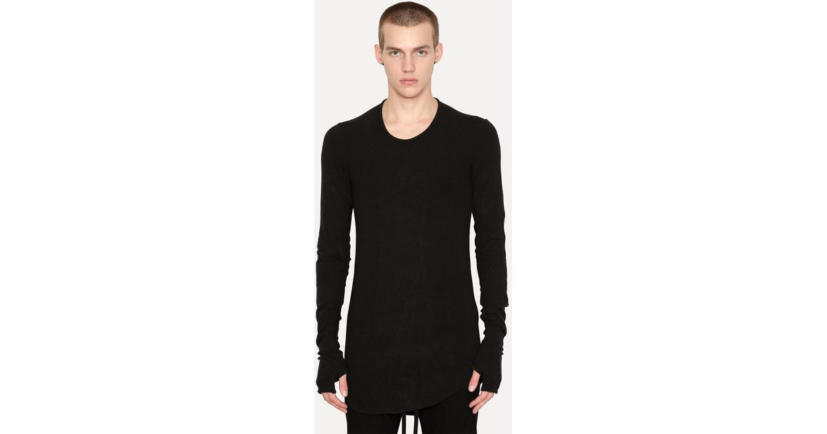 4abb7f7eec6672 Lyst - Lost   Found Modal Cashmere Shoulderless Top in Black for Men