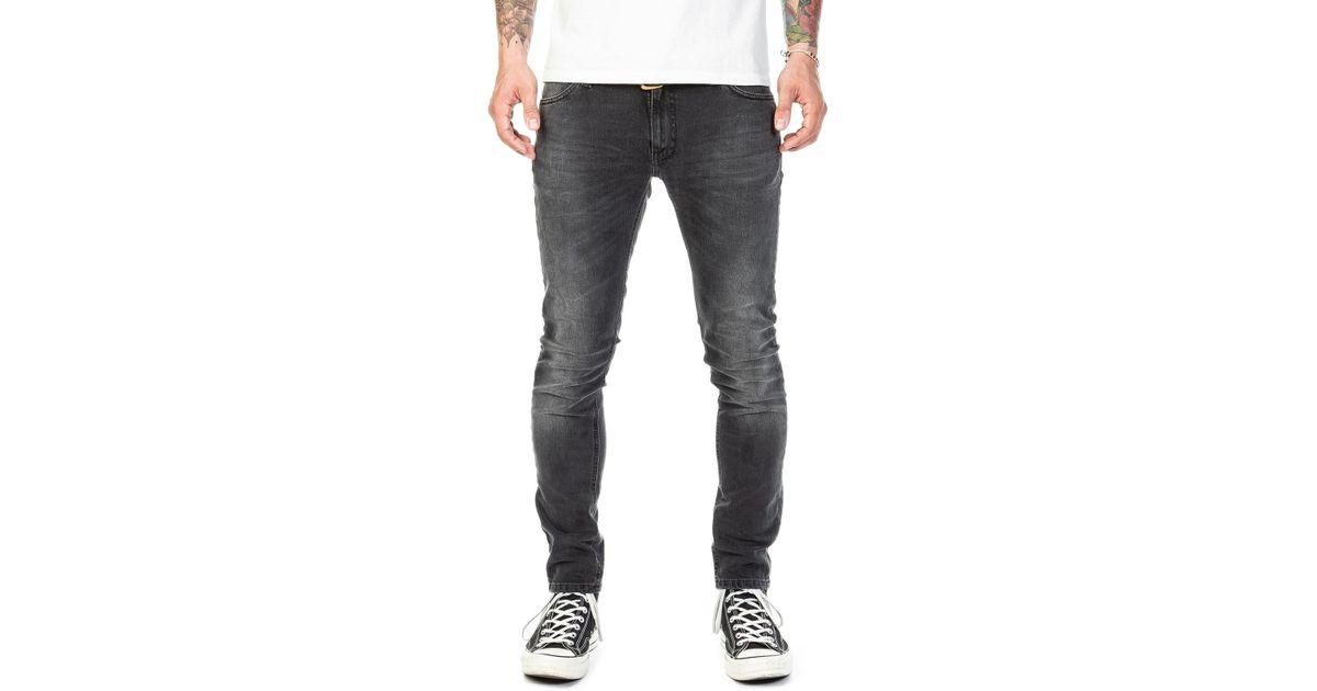 b6b1620ce82f9 Lyst - Nudie Jeans Skinny Lin Black Movement in Black for Men