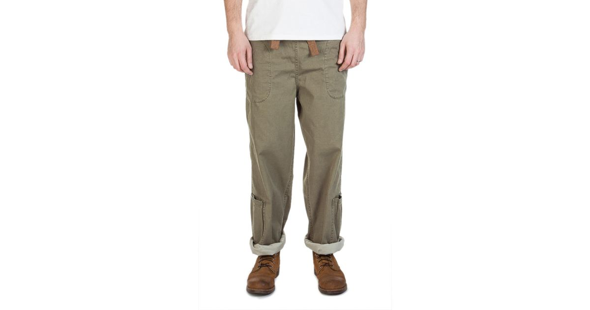 1d8ad0689648 Lyst - Nigel Cabourn Lybro Ground Pant Nam Green in Green for Men