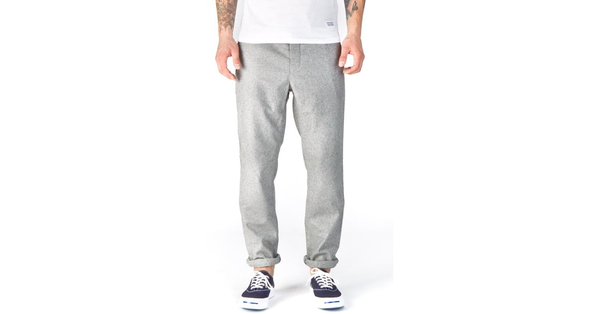 339d5fd571a Norse Projects Thomas Slim Light Wool Grey Melange in Gray for Men - Lyst