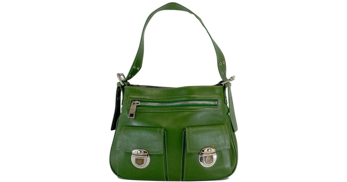 6f4893e0dcab Lyst - Marc Jacobs Green Leather Purse in Green