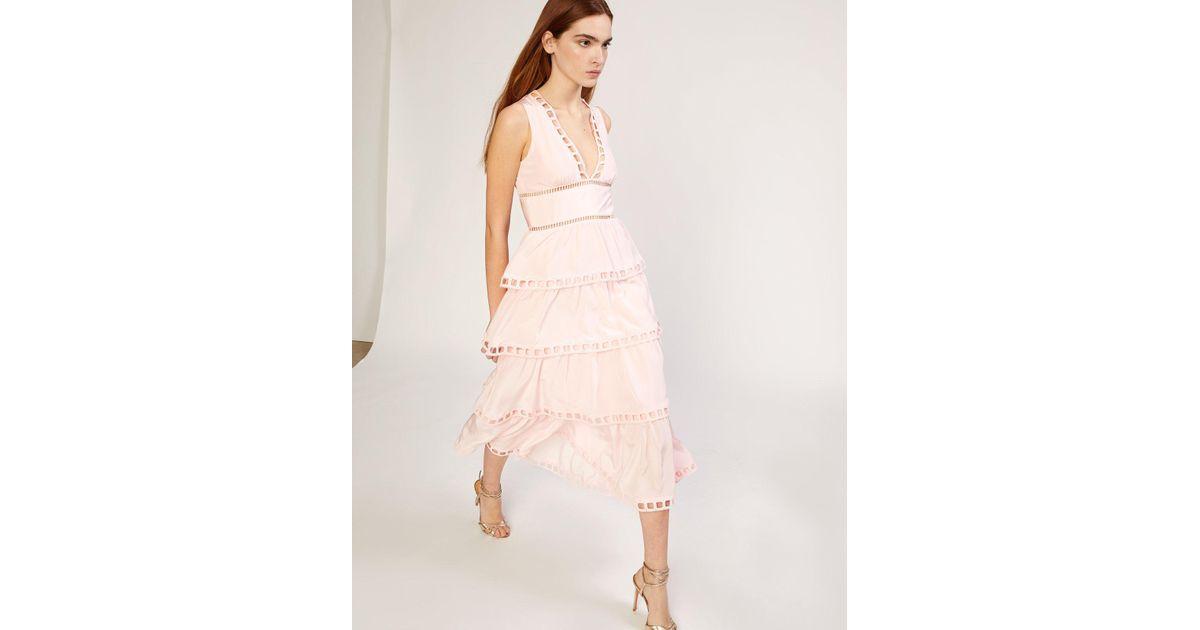 305a6b5e63 Cynthia Rowley Postcard Midi Dress in Pink - Lyst
