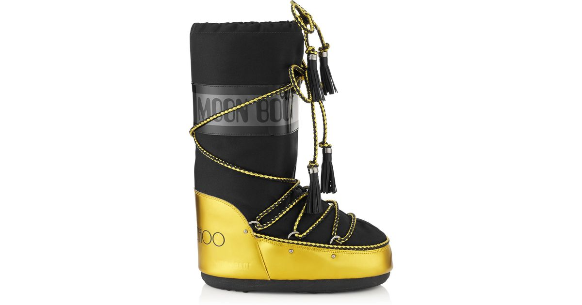 Jimmy choo mb classic acid yellow mirror leather and black for Classic acid