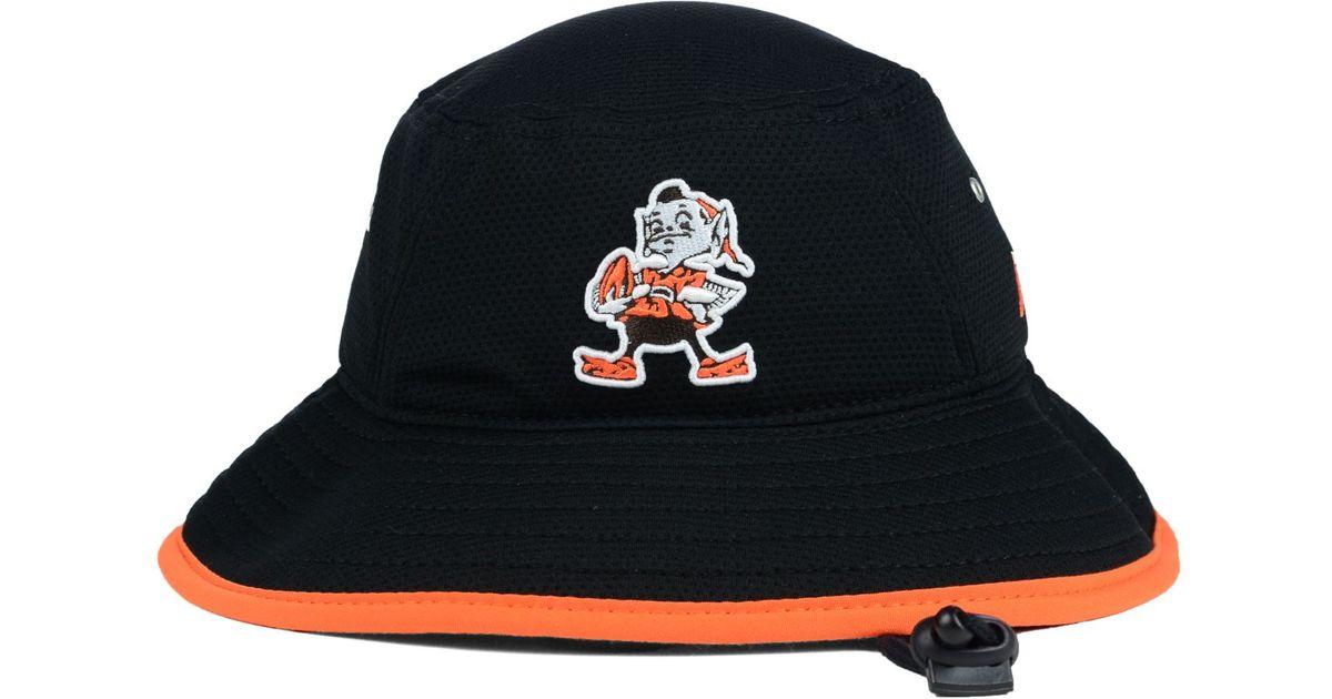 2f1ff5189 Lyst - KTZ Cleveland Browns Training Bucket Hat in Black for Men