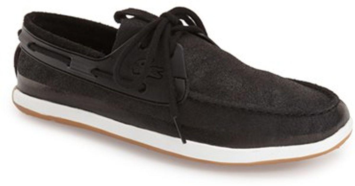 e48608a2b3a7 Lyst - Lacoste  landsailing  Boat Shoe in Black for Men