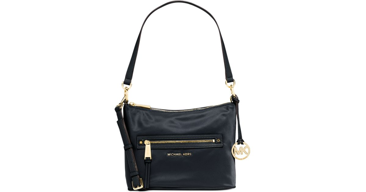 17c1f5c28f85f7 Michael Kors Michael Rhea Zip Medium Convertible Shoulder Bag in Blue - Lyst