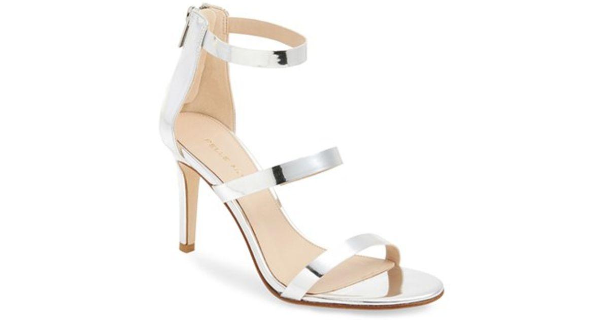 330ff75f10da4 Lyst - Pelle Moda  dalia  Three Strap Sandal in Metallic