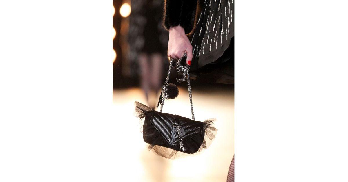 Lyst - Saint Laurent Monogram Baby Shoulder Bag in Black 6b9bb2354a6eb