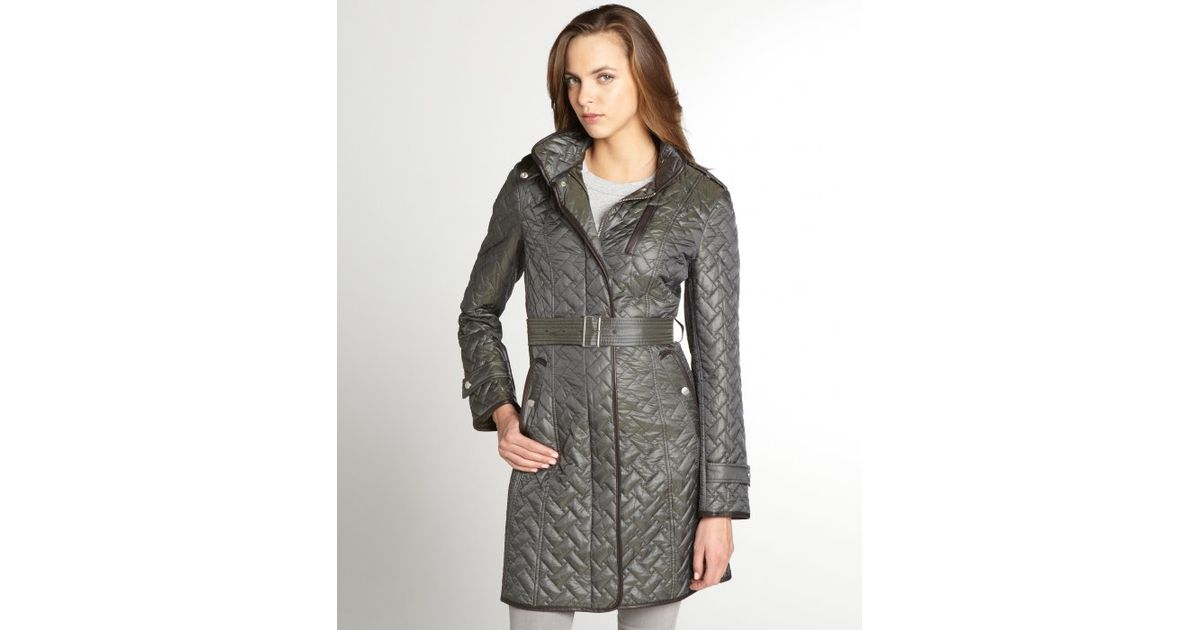 s quilt breasted women haan outerwear quilted coat cole trench single cabernet a bags in jacket