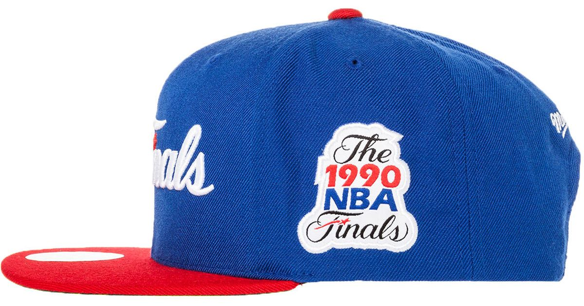 new style bc34d 3c345 ... clearance lyst mitchell ness the detroit pistons finals snapback in blue  for men b8bf2 275ef