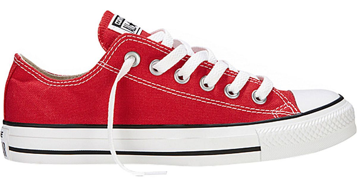 converse all star canvas sneakers in red for men lyst. Black Bedroom Furniture Sets. Home Design Ideas