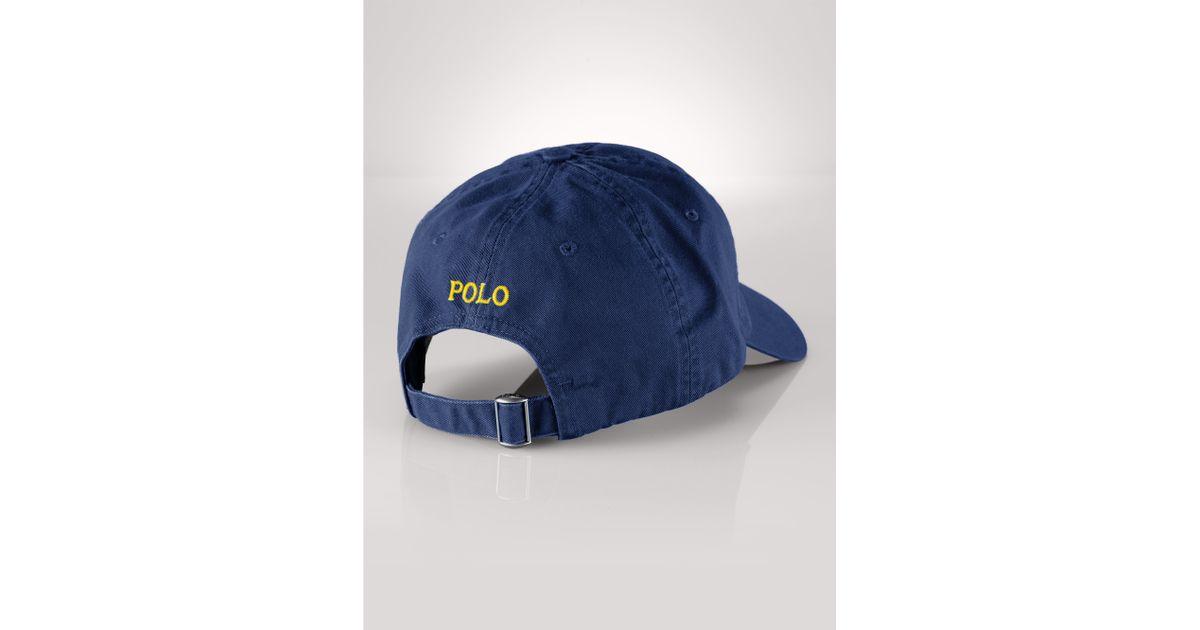 Lyst - Polo Ralph Lauren Cotton Chino Baseball Cap in Blue for Men 71e3fb52bf5