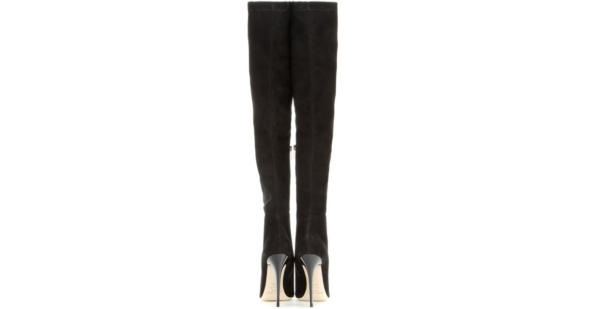 3c19c3b5919 Lyst - Jimmy Choo Turner Suede Over-the-knee Boots in Black