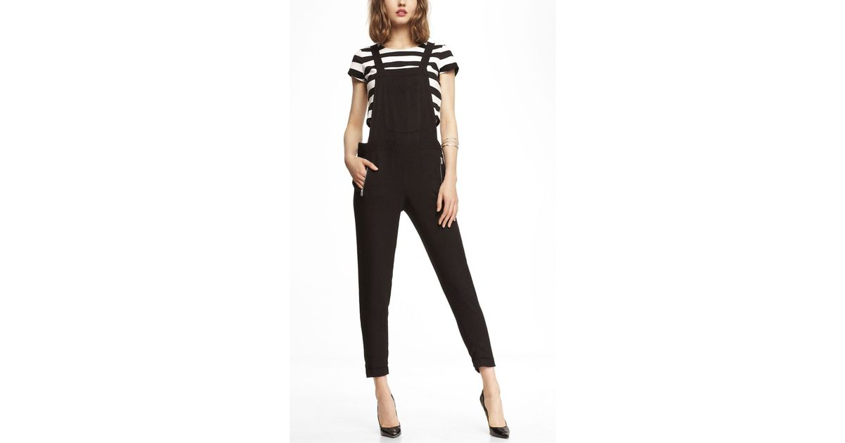 492568dc6c4 Lyst - Express Woven Overalls in Black