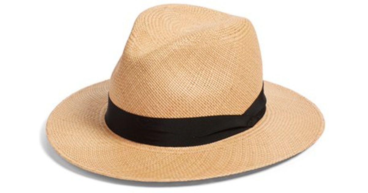 Frayed Straw Panama Hat - Beige Rag & Bone rGO68TE7w