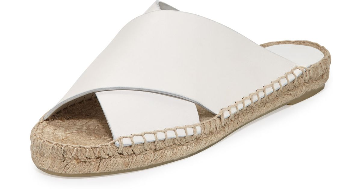 4f6a3346274 Lyst - Vince Castel Leather Espadrille Sandals in White