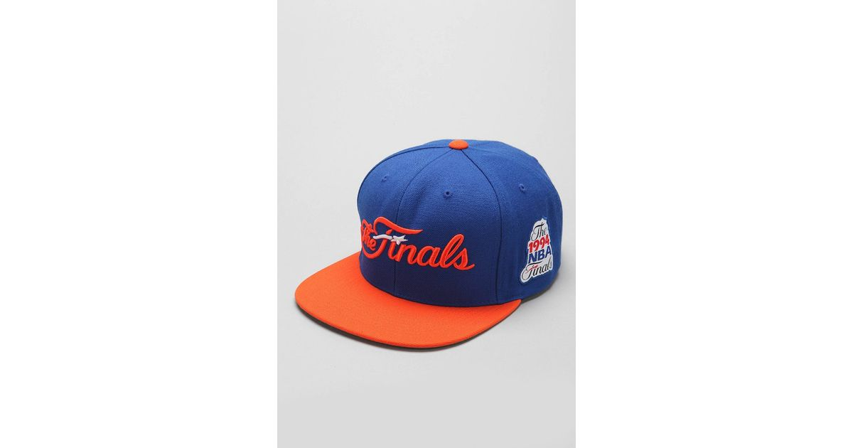 best service 2e7a7 41436 Mitchell   Ness Mitchell Ness Finals New York Knicks Snapback Hat in Blue  for Men - Lyst