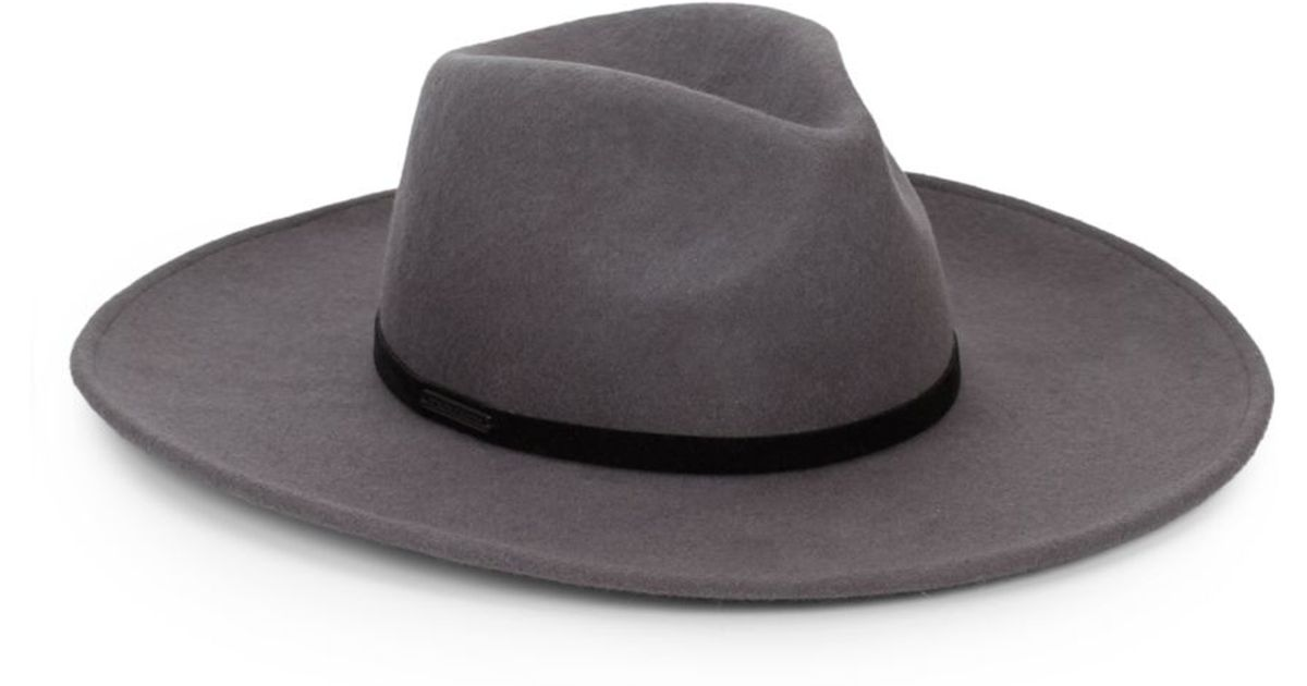 Lyst - Vince Camuto Wool Wide-brim Hat in Gray for Men 3f617cb03d4