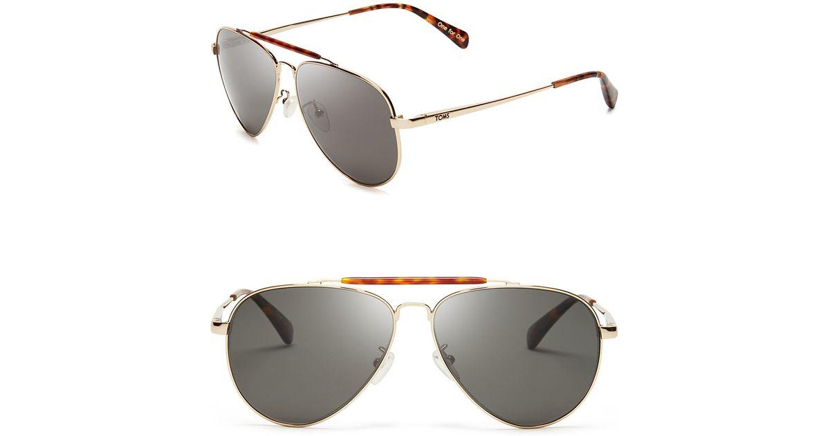 f3fe57fbc0db Lyst - TOMS Maverick Polarized Sunglasses in Metallic