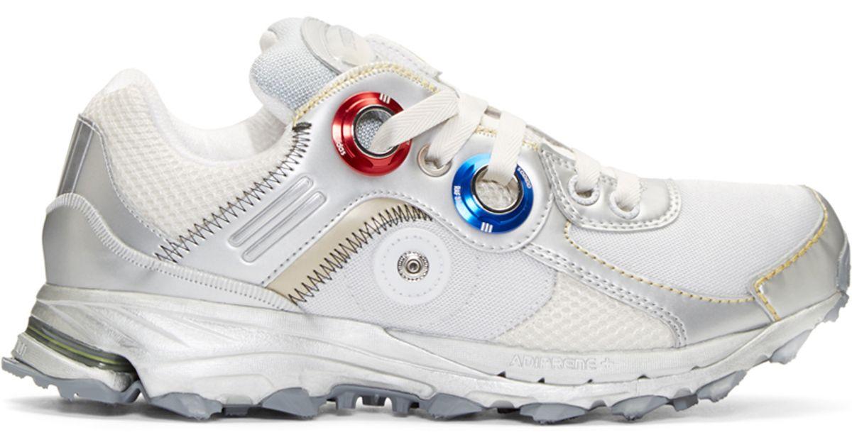 cb84d5703b4b Lyst - Raf Simons Silver Adidas X Response Trail Robot Sneakers in Metallic  for Men