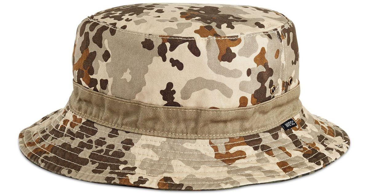 4b1eda33057 Lyst Wesc Flecktarn Reversible O Bucket Hat In Green For Men