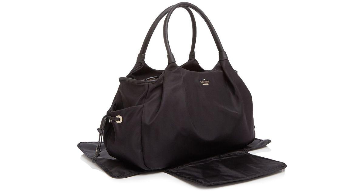 1aeefbbec512 Kate Spade Classic Nylon Stevie Diaper Bag in Black - Lyst