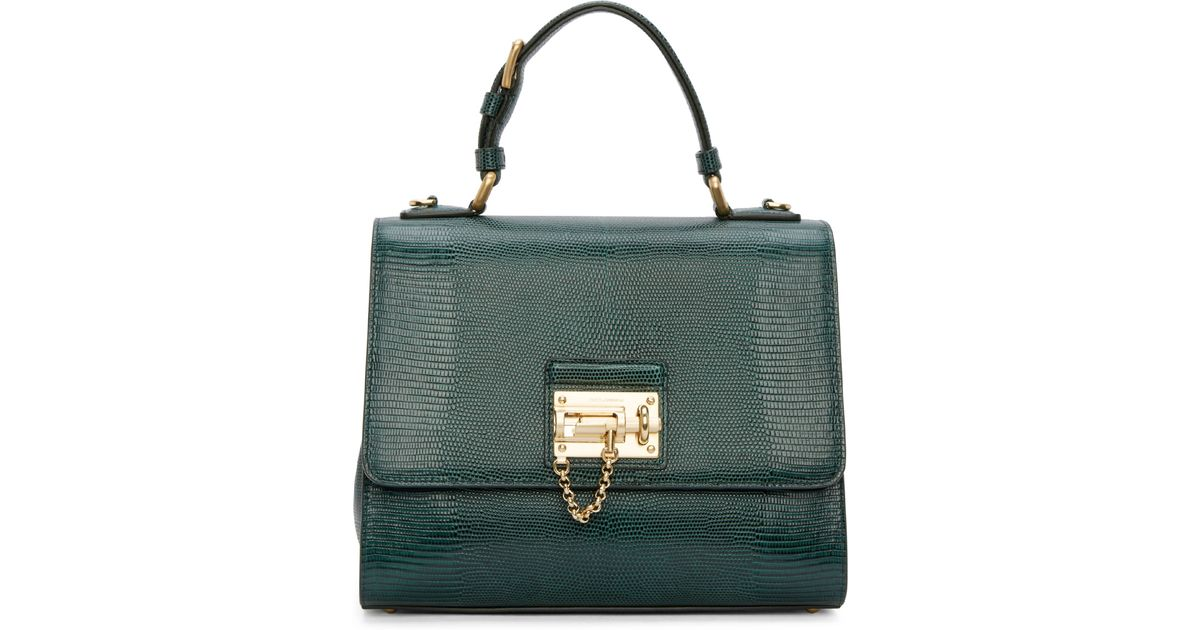 Dolce   Gabbana Green Iguana Medium Monica Bag in Green - Lyst 5b3379d464541