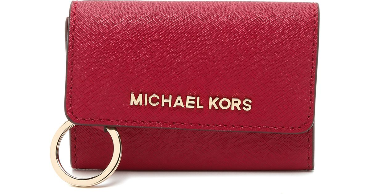 2b8d765032b48 MICHAEL Michael Kors Jet Set Coin Purse in Red - Lyst