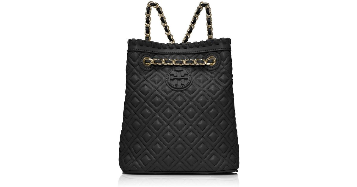 db6a4238c4 Lyst Tory Burch Marion Quilted Small Backpack In Black