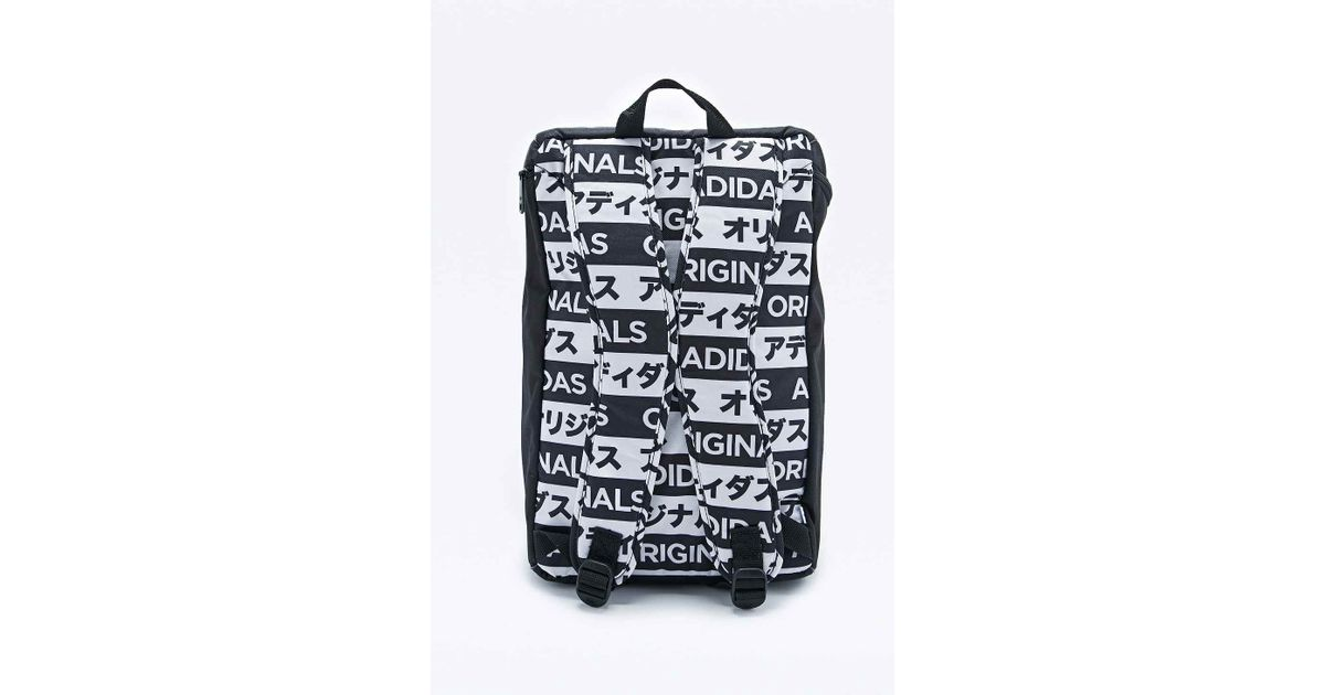 c3e7e8ffc6c adidas Typo Classic Backpack In Black And White in Black - Lyst