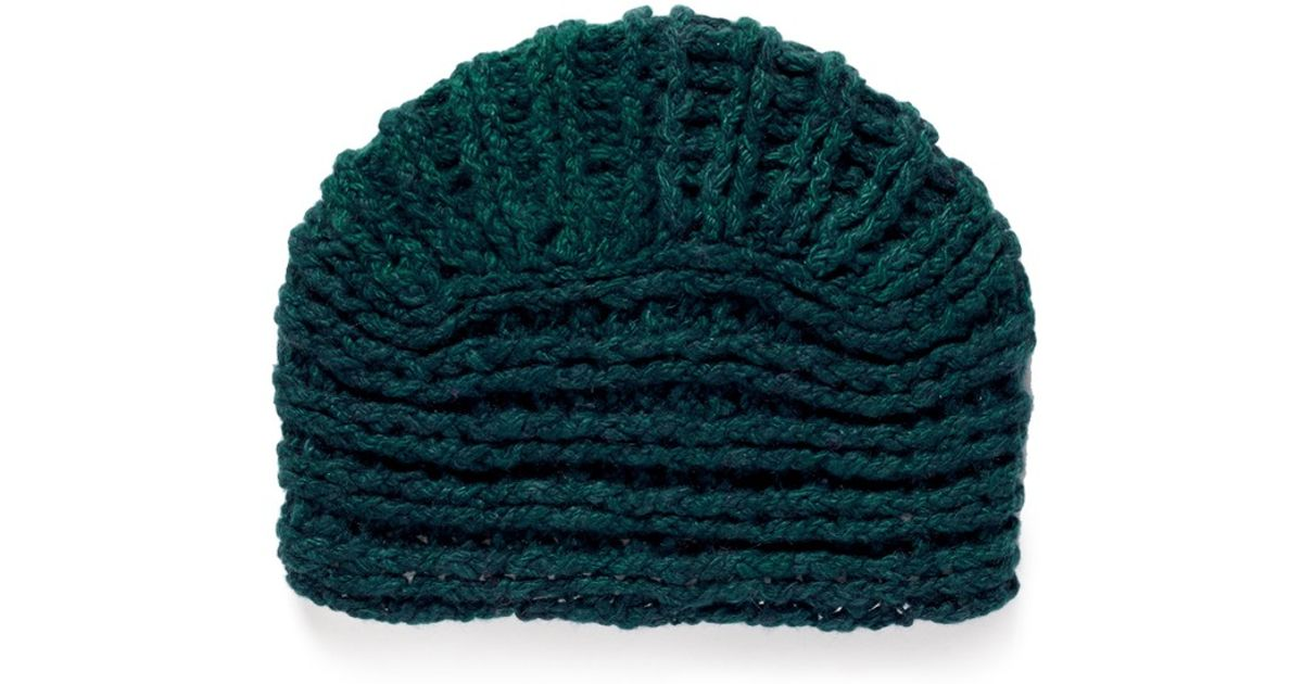 Knitting Pattern For Cashmere Beanie : The elder statesman Chunky Cashmere Knit Turban Beanie in ...