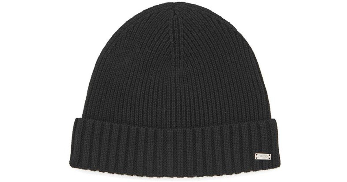 c0f5f053 BOSS Men's Fati Beanie Hat in Black for Men - Lyst