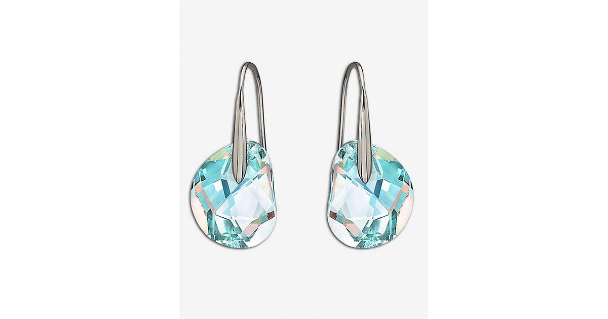 Swarovski Metallic Galet Pierced Earrings Lyst