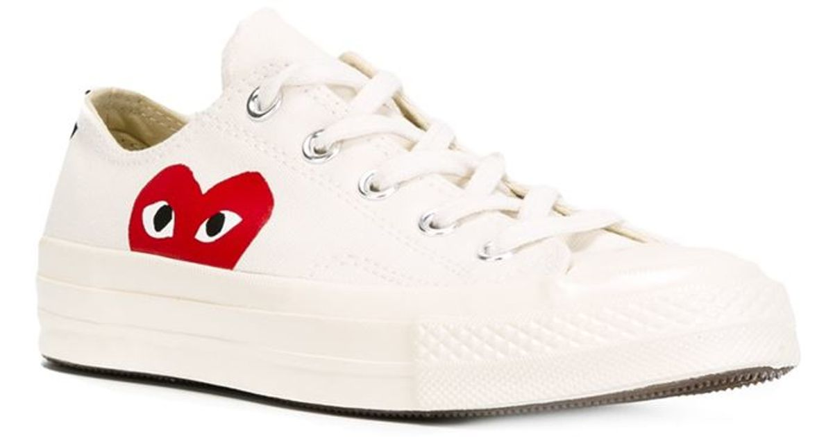 5e3612e2d556c Play Comme des Garçons Converse  Chuck Taylor  Sneakers in Natural - Lyst