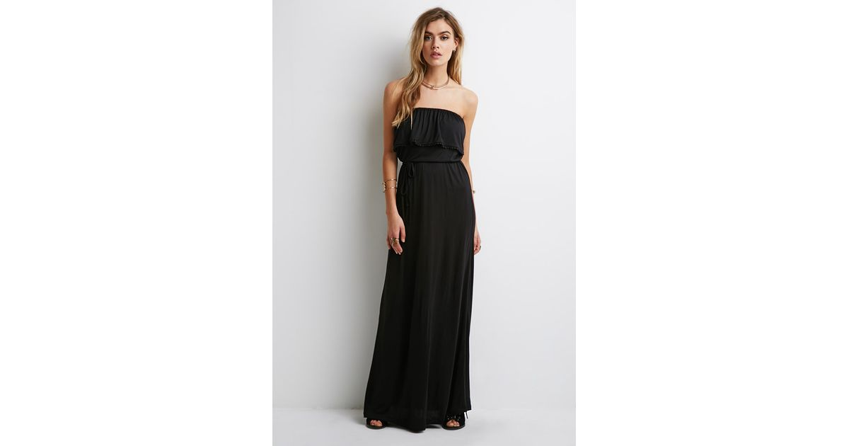 Forever 21 flounce maxi dress