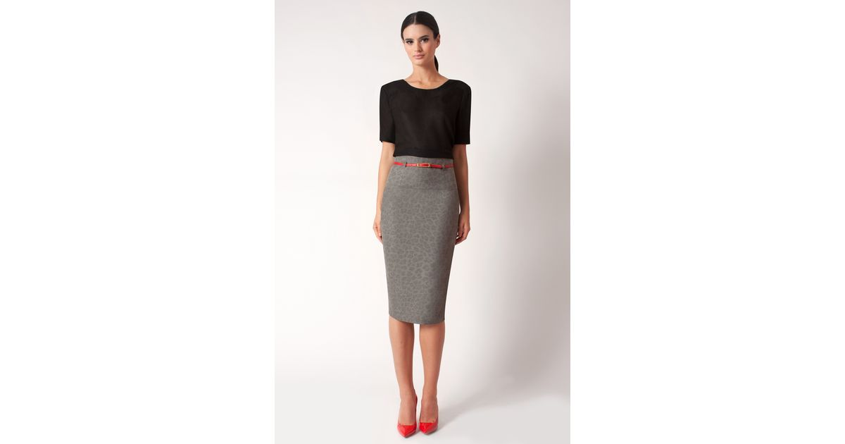 a272615684 Lyst - Black Halo Cheetah High Waist Pencil Skirt  online Exclusive  in  Natural