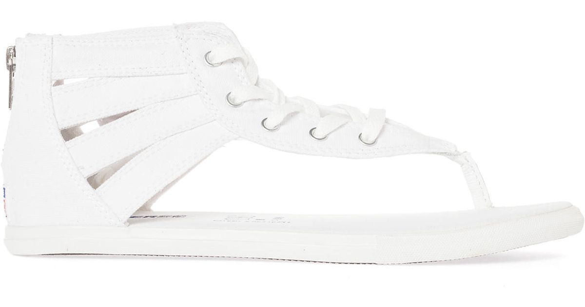 f270cb31f349 Lyst - Converse The Chuck Taylor All Star Gladiator Thong Sandal in White