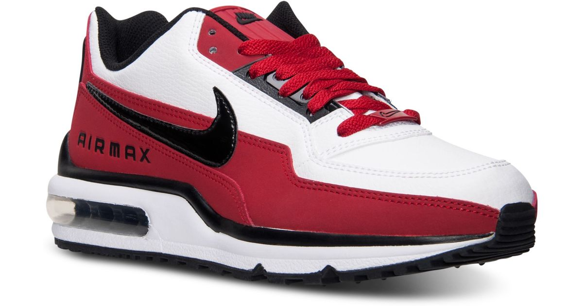 ... nike mens air max ltd running sneakers from finish line in red for men  lyst ...
