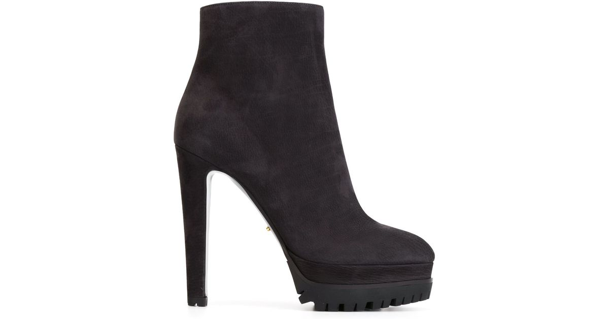 Sergio Rossi Suede Platform Booties cheap shop offer B93v2mqy