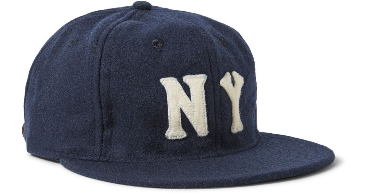 c4b5f5218d7 Lyst - Ebbets Field Flannels 1936 New York Black Yankees Wool-Broadcloth  Baseball Cap in Blue for Men