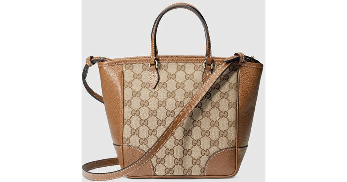 5701d4f7267 Lyst - Gucci Bree Original Gg Top Handle Bag in Brown