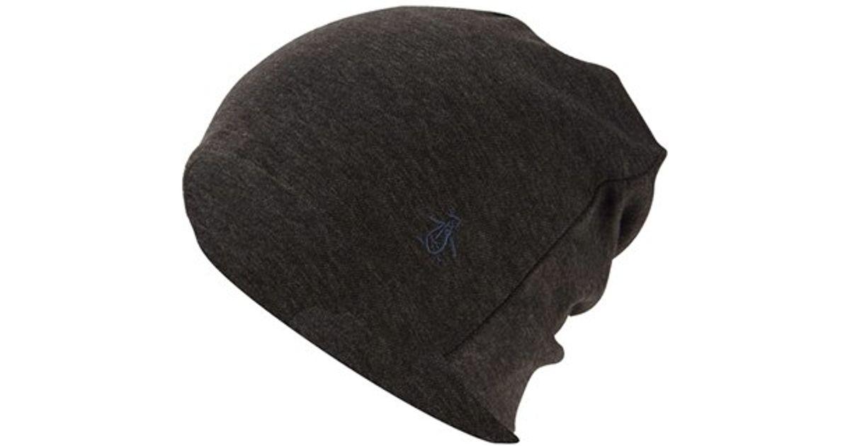 c92dd46c9bb1b Lyst - Original Penguin  cut   Sew  Knit Beanie in Gray for Men