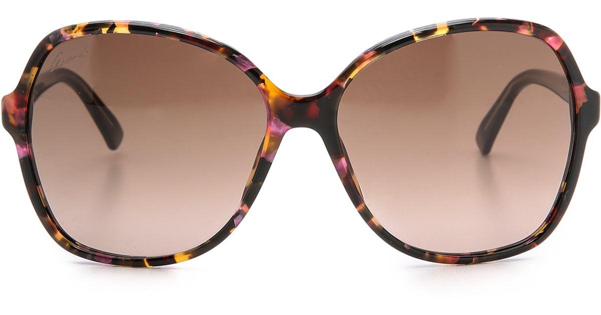 03995034b0 Lyst - Gucci Oversized Sunglasses - Havana Blue Black grey in Orange