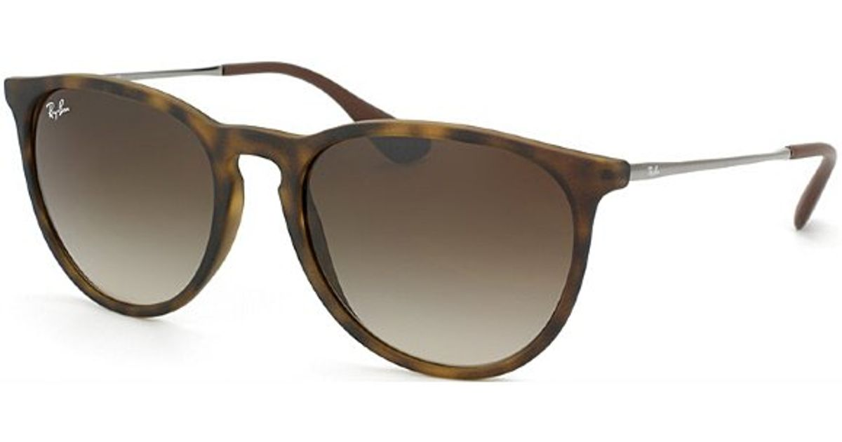 82208dbddf Lyst - Ray-Ban Erika Rb 4171 865 13 Havana Oval Plastic Sunglasses in Brown